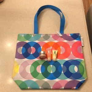 Clinique Tote Bag with Eye Cream, Gel, & Lotion